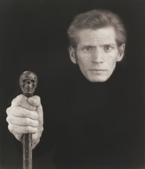 It's hard to see this vain man visibly dying … Mapplethorpe's 1988 self-portrait with skull cane.
