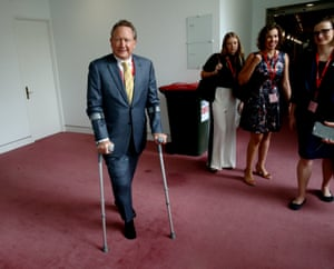 """The CEO of Fortescue Metals Andrew """"Twiggy"""" Forrest in the press gallery of Parliament House Canberra this morning, Wednesday 2nd December 2015"""