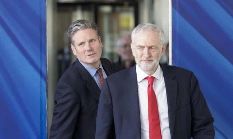 Keir Starmer and Mr Corbyn pictured in March 2019