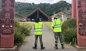 Marae where families of the missing have gathered to wait for news from the rescue operation