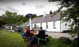 The Old Forge pub in Inverie, west Scotland, is Britain's most remote watering hole.