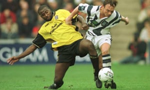Michael Johnson in action for Birmingham City in 1997.