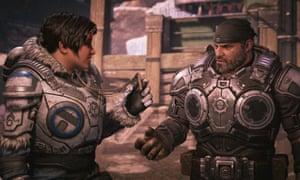 Trong Gears, lớp áo anh hùng chuyển từ loạt Marcus Fenix thông thường sang Kait Diaz.