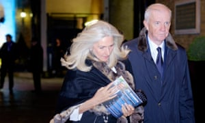 Guests depart from a Tory fundraising event in central London clutching material for Zac Goldsmith's mayoral candidacy.