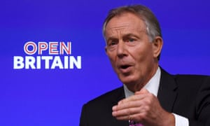 Tony Blair delivers a keynote pro-Europe speech in London on 17 February