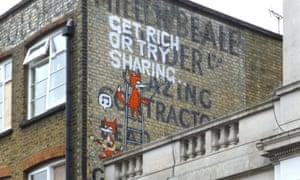 Graffiti on a London building/