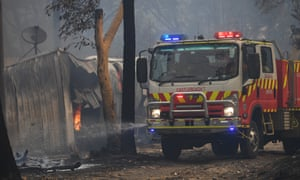 Fire on the Central Coast, north of Sydney, destroyed farm structures.
