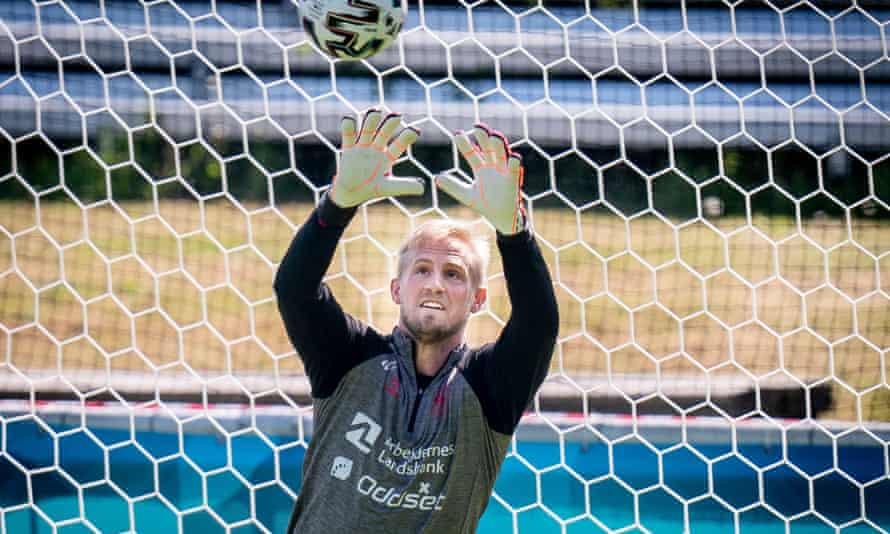 Denmark goalkeeper Kasper Schmeichel