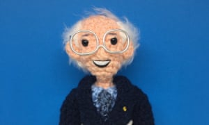 One of Tobey King's crocheted dolls