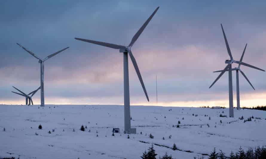 Bowbeat wind farm, Moorfoot Hills, Scottish Borders.