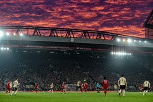Red sky at night, Liverpool's delight. They beat Manchester United 2-0 on Sunday to open up a 16-point lead at the top of the table, with a game in hand over their main rivals.