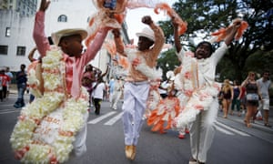 The Original Big 7 Junior Steppers a second line parade to mark the 10th anniversary of Hurricane Katrina in New Orleans on Saturday.
