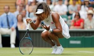 A frustrated Namoi Osaka during her defeat to Yulia Putintseva.
