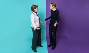 US women's rights attorney Gloria Allred (left) and feminist writer and activist Gloria Steinem