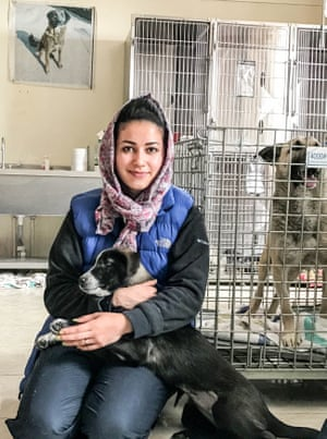 Veterinary surgeon Dr Malalai Haikal from Nowzad Conrad Lewis Clinic in Kabul