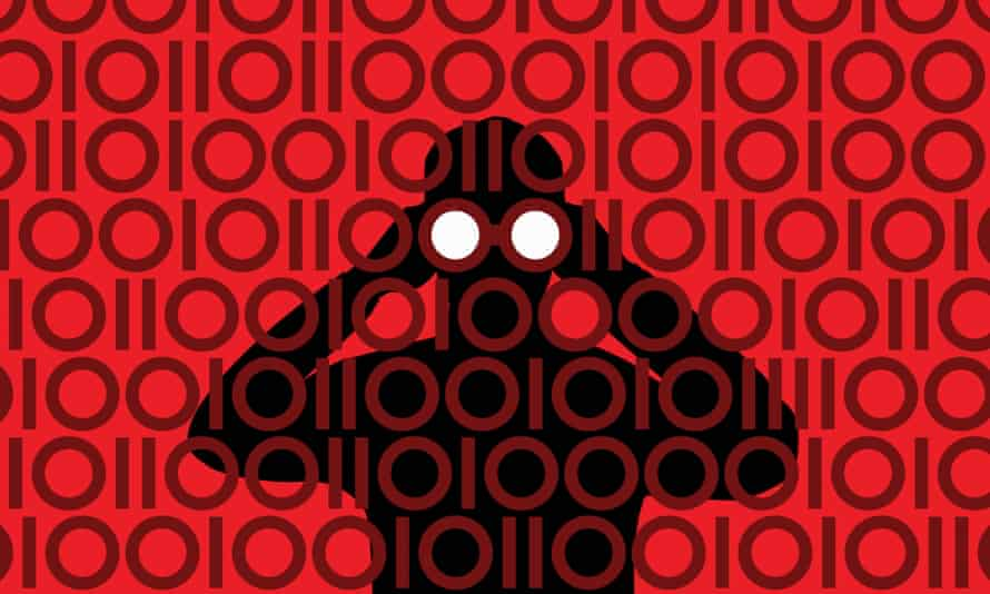 hacking cybercrime spying binary numbers
