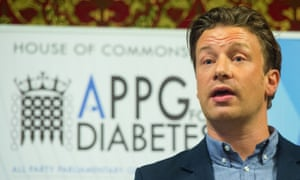 Jamie Oliver at the House of Commons, as part of his Sugar Rush campaign.