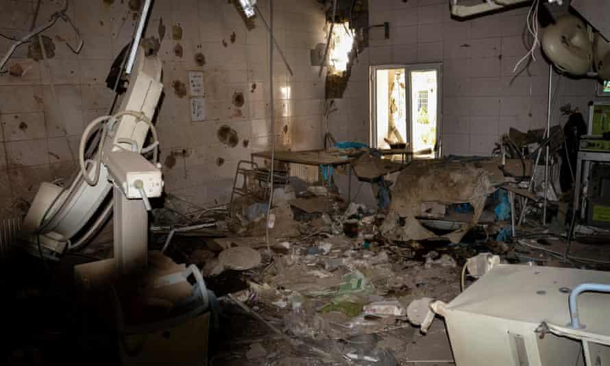 An MSF hospital in Kunduz, Afghanistan, hit by an airstrike.