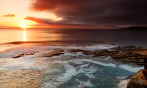 Midsummer sunset from Birsay, Orkney.