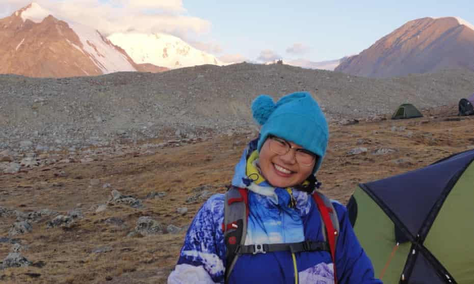 Oyunaa in Mongolia's Tavan Bogd mountains
