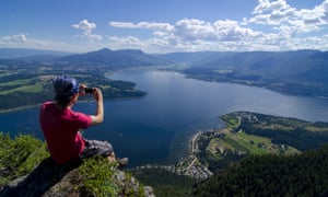 Bastion Mountain Lookout, near Salmon Arm, British Columbia.