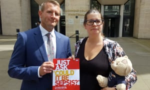 Melissa Mead, whose son William died of sepsis in 2014, with the chief executive of the UK Sepsis Trust Ron Daniels.