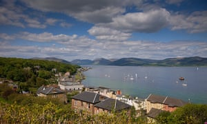 View looking east from Rothesay, Isle of Bute.