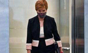 Nicola Sturgeon in the Scottish parliament last month.