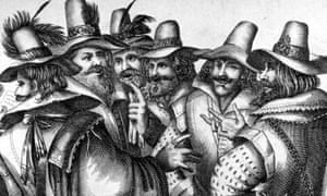 Guy Fawkes and fellow conspirators planning the gunpowder plot to blow up the Houses of Parliament, circa 1605. (Photo by Hulton Archive/Getty Images)
