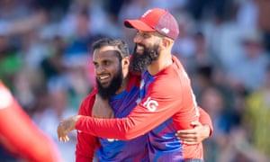 Adil Rashid and Moeen Ali, among the wickets at Headingley.