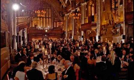 the awards ceremony for the 2009 Man Booker prize at its traditional home in the Guildhall, London.