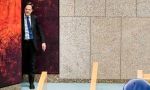 The Dutch prime minister, Mark Rutte