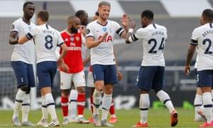 Tottenham's Toby Alderweireld celebrates after the match.