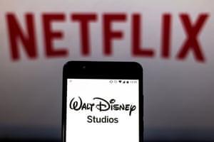 Disney logo and Netflix logo