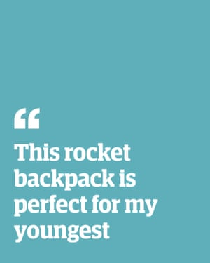 Quote: 'This rocket backpack is perfect for my youngest'