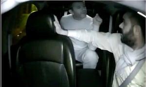 Chief executive Travis Kalanick argues with an Uber driver.