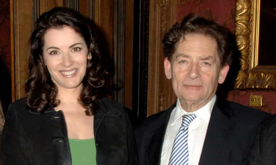 Lawson with his daughter Nigella in 2008.