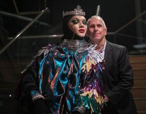 Dancer Wayne Sleep with photographer Daniel Lismore at the opening night