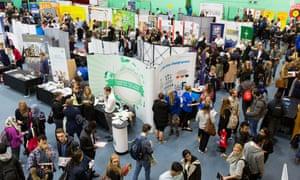 Careers fair at university.