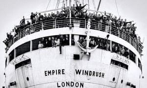 The 'SS Empire Windrush' docking at Tilbury in London on 21 June 1948, having sailed from Australia via Kingston, Jamaica.