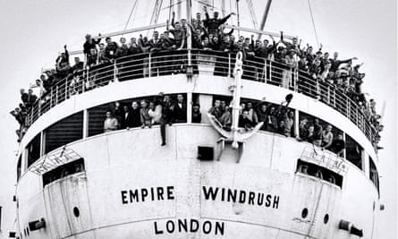 the arrival of the MV Empire Windrush at Tilbury Docks in 1948