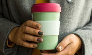 A reusable coffee cup