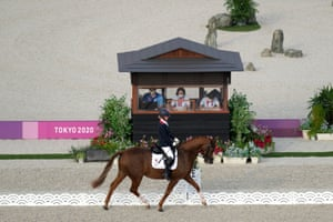 Great Britain's Georgia Wilson riding Sakura in action during the Dressage Individual Test.