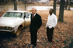 Untitled, 1969-70 (the artist's uncle, Ayden Schuyler Senior, with Jasper Staples, in Cassidy Bayou, Sumner, Mississippi)