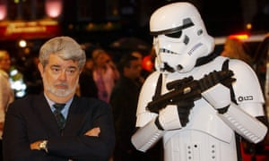 Stay of execution … George Lucas at the premiere of Revenge of the Sith in 2005.
