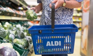 An Aldi shopping basket