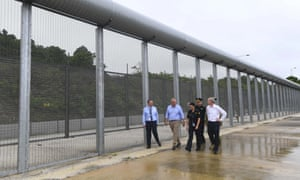 Scott Morrison tours the detention centre on Christmas Island where refugees will be processed if they are approved for medical transfer
