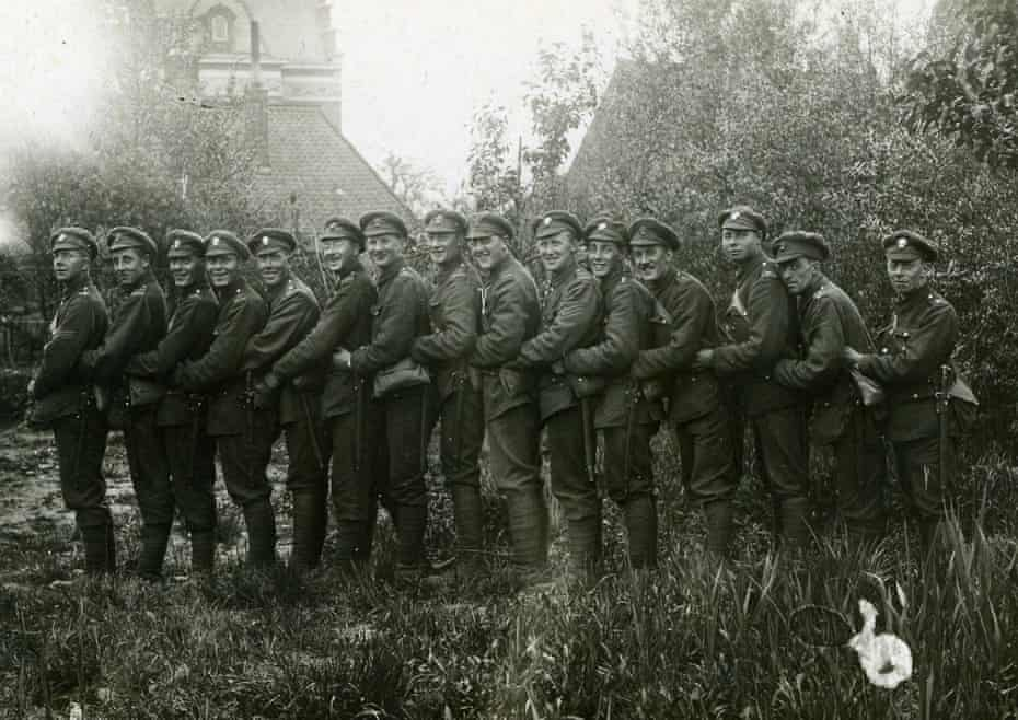 Men in La Bassee, May 1916 before the start of the battle of the Somme.