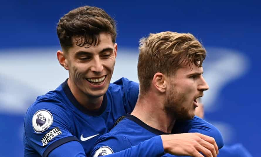 Chelsea were the Premier League's biggest spenders on agents' fees across a period during which they signed Kai Havertz (left) and Timo Werner.