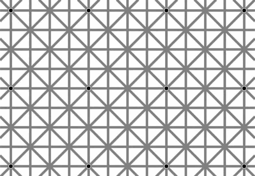 12 dots illusion by Jacques Ninio